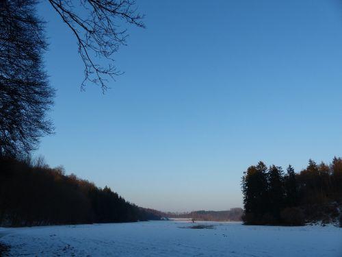 žiemą,lonetal,žiema,sniegas,sausas slėnis,snieguotas,abendstimmung