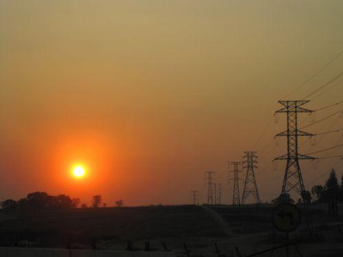Wintry Sunset, Midrand
