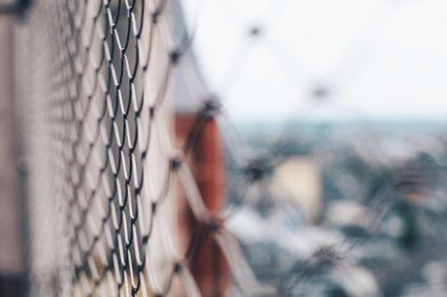 wire fence blur