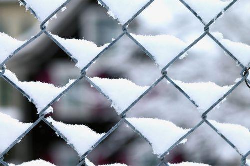 wire mesh snow winter