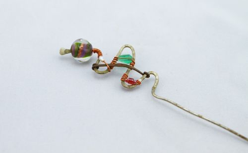 wire wrapped glass beads glass beads