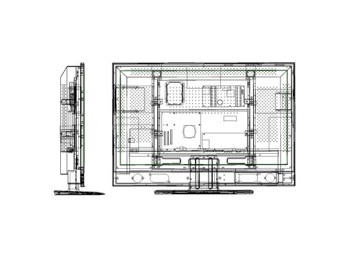 wireframe orthographic television