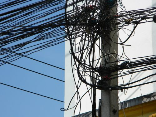 wires mess post