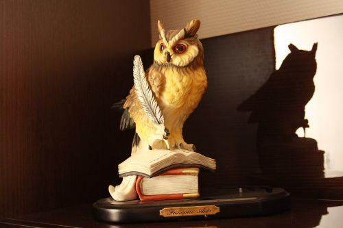 wisdom owl figurine