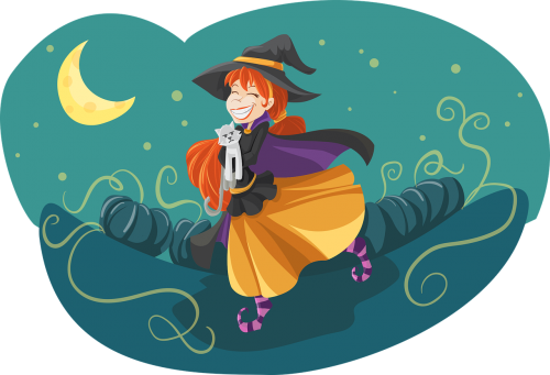witch cute friendly