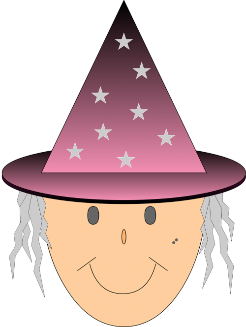 witch stars witch's hat