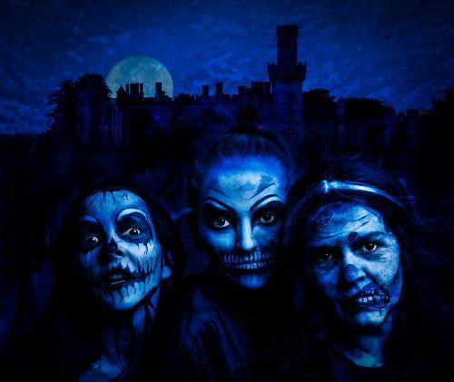 witch blue halloween