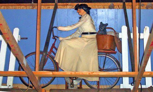 ragana, dviratis, burtininkas, oz, Toto, krepšelis, ragana dviračiu