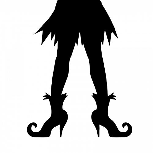 Witches Legs Halloween Silhouette