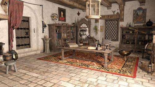 wizard  room  scroll