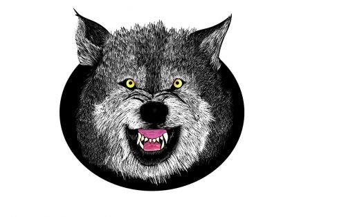 wolf evil wolf head