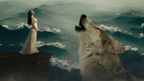 wolf  woman  fantasy