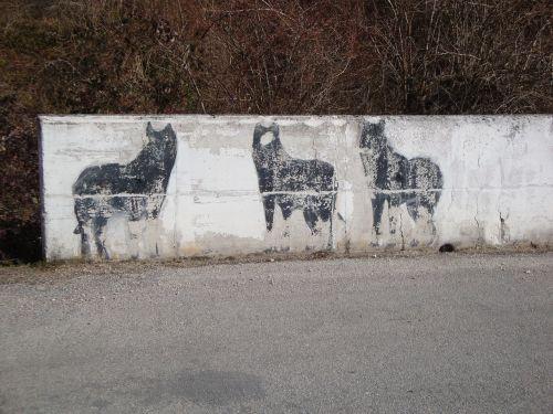 wolves mountain murals
