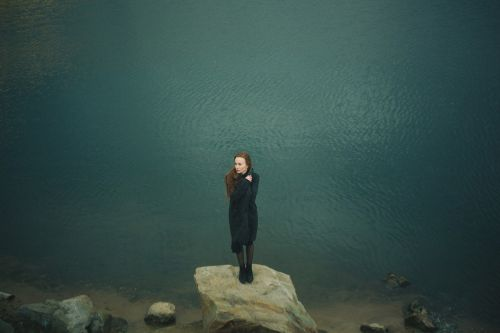 woman standing rock