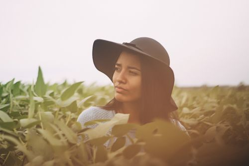 woman girl hat
