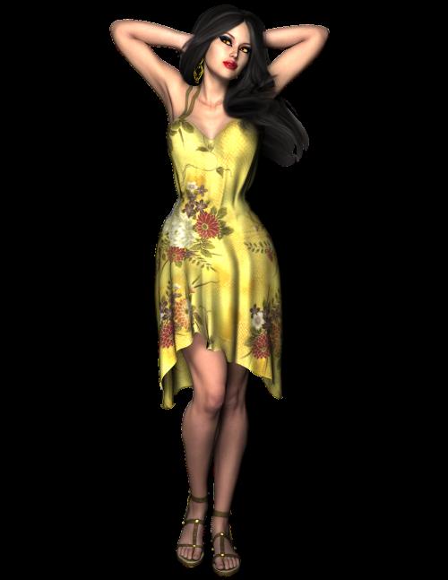 woman beautiful dress