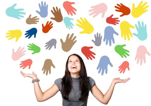 woman girl hands