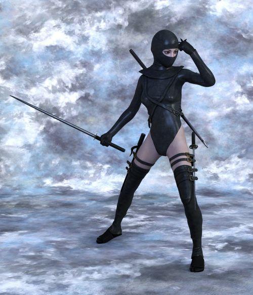 woman warrior ninja