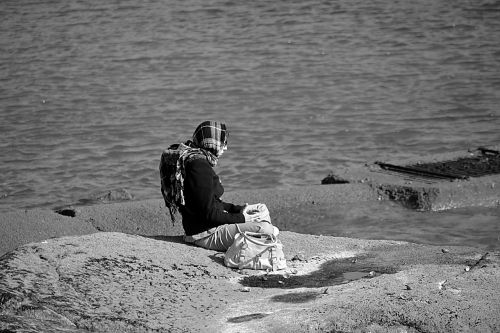 woman character solitude