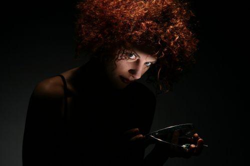 woman hair crazy