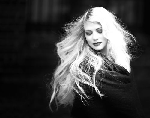 woman blond hair