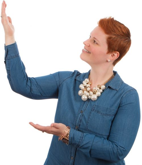 woman poses elearning
