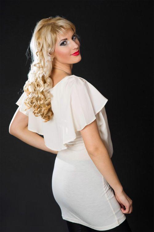 woman blonde person
