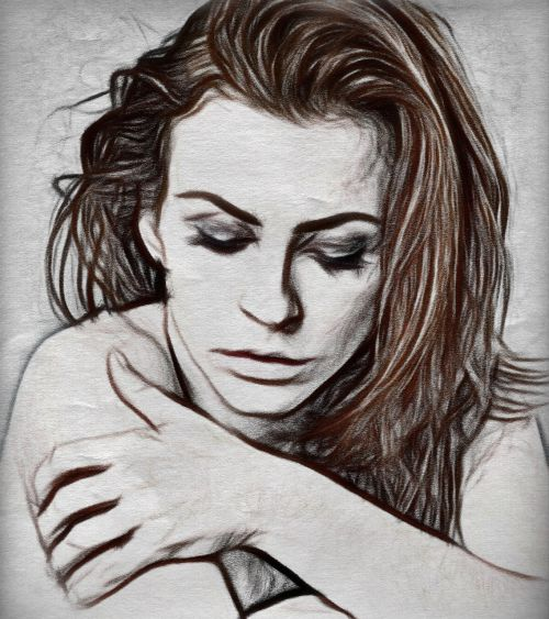 woman charcoal color