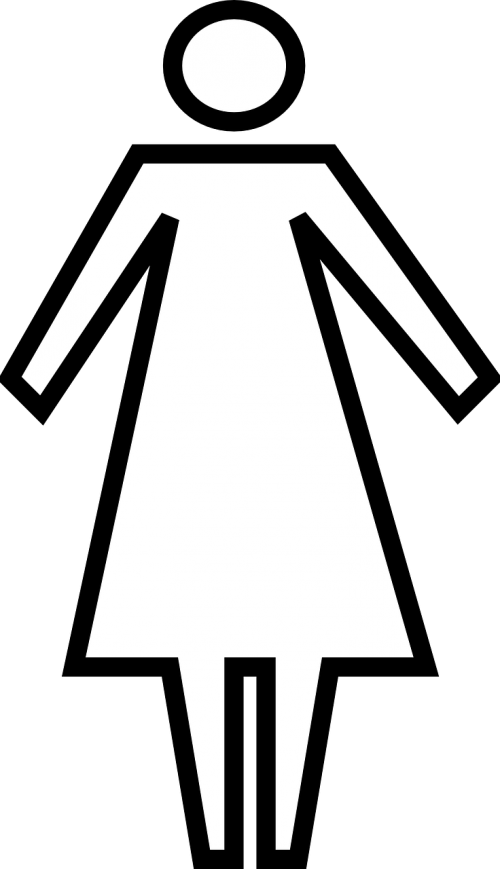 woman restroom toilet