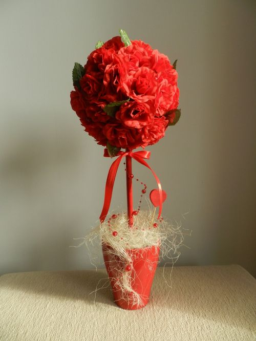 woman handicraft flowers