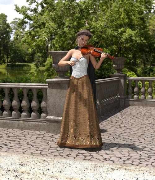woman violin play