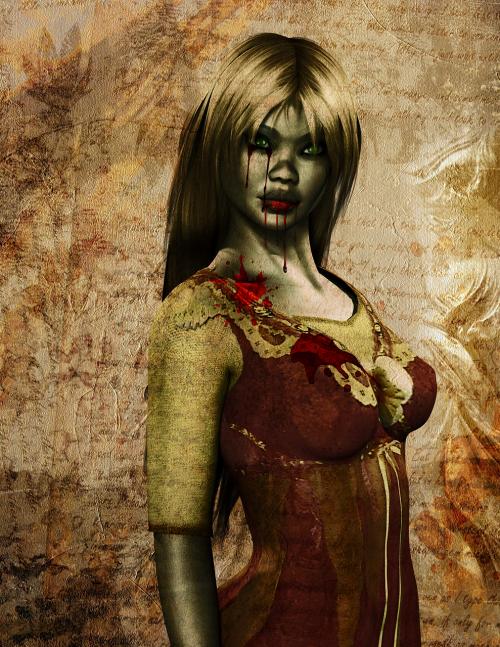 woman zombie halloween