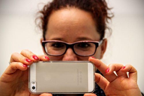 woman photograph iphone