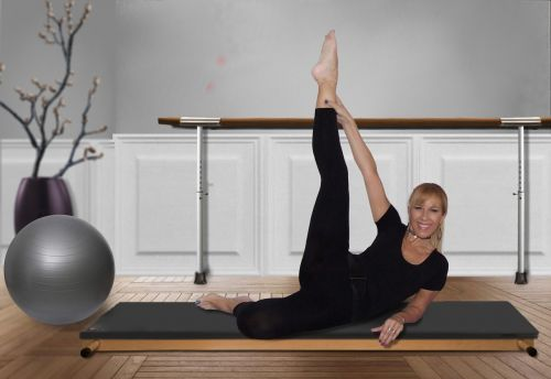 woman pilates gymnastics