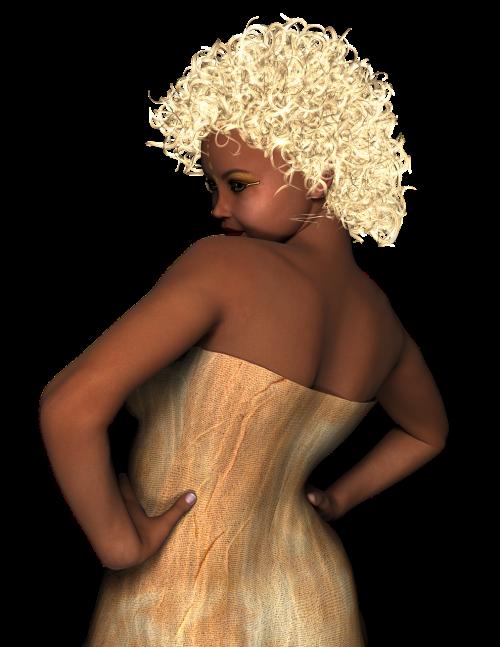 woman pose gold