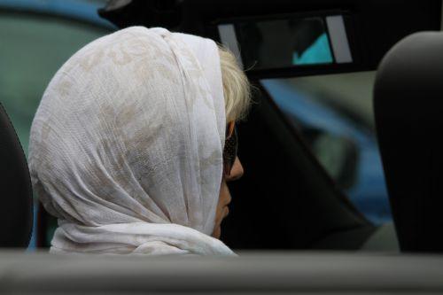 woman headscarf person