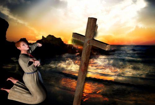 woman believe cross