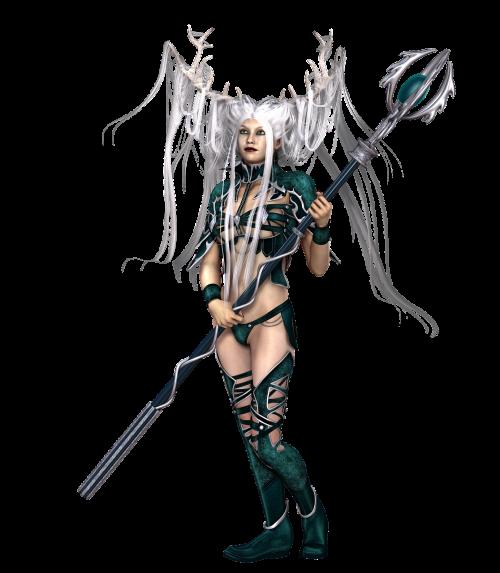 woman hair warrior