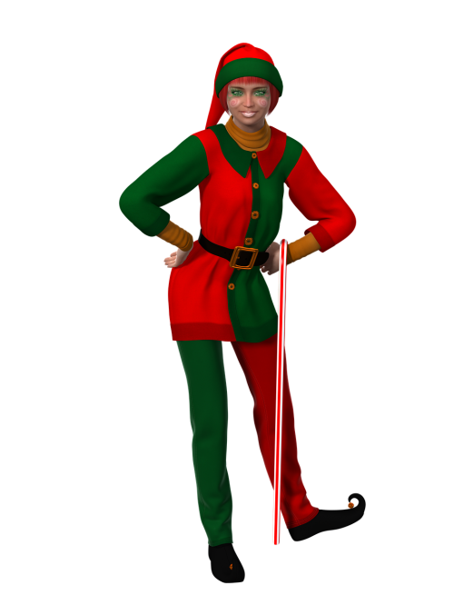 woman christmas christmas elf