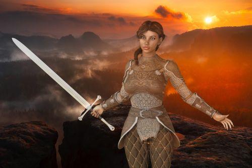 woman warrior amazone