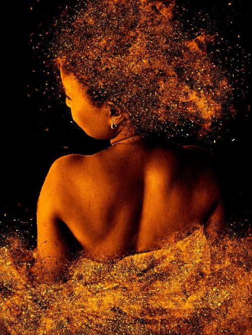 woman back view skin