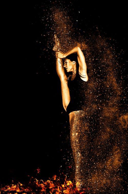 woman movement gymnastics