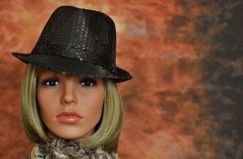 woman hat black