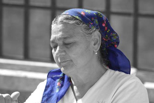 woman face headscarf