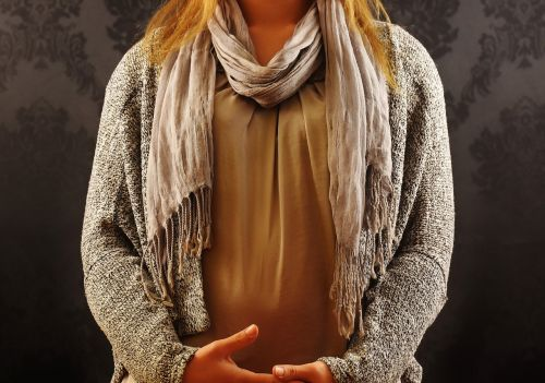 woman fashion scarf