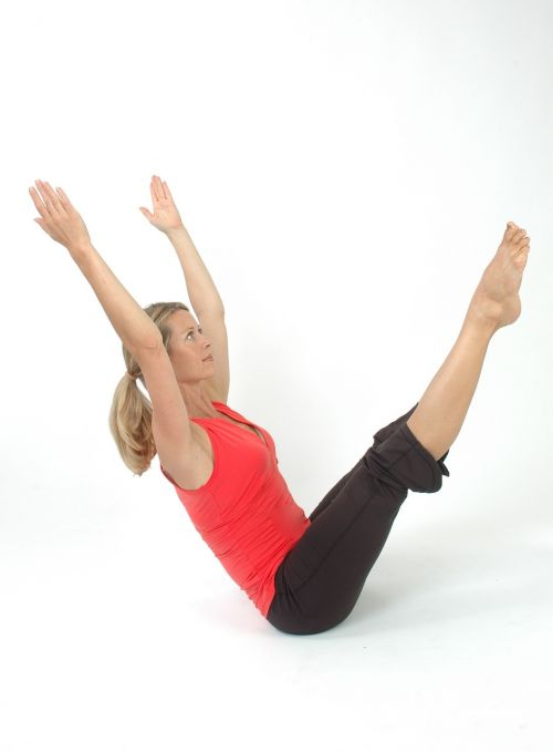 woman pilates yoga