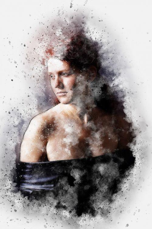woman art abstract