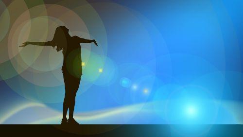woman silhouette lichtreflex