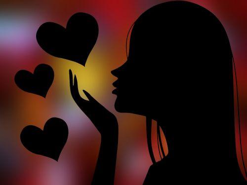 woman girl heart