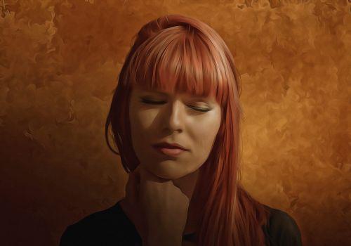 moteris,Moteris,grožis,portretas,modelis,raudoni plaukai,ilgi plaukai,šviesa,šešėliai,moters veidas,skaitmeninis,dažyti